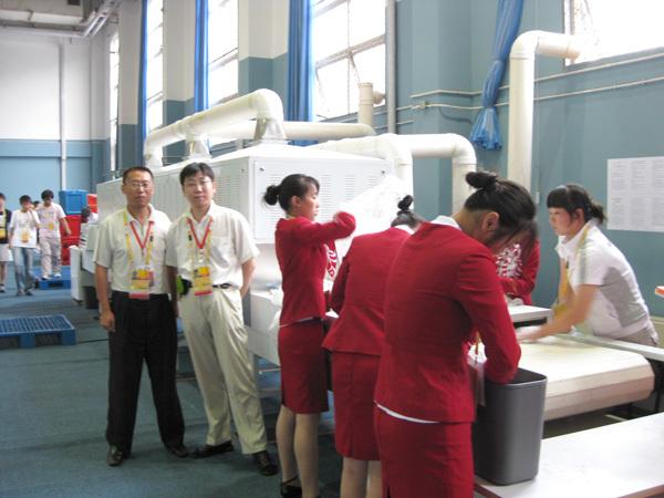 博奥员工在奥运会设备现场