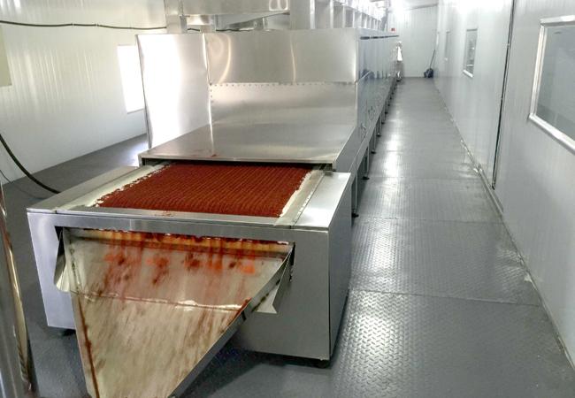 辣椒粉微波干燥烘干灭菌设备